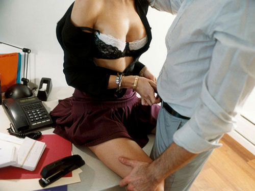 girls fuck in office